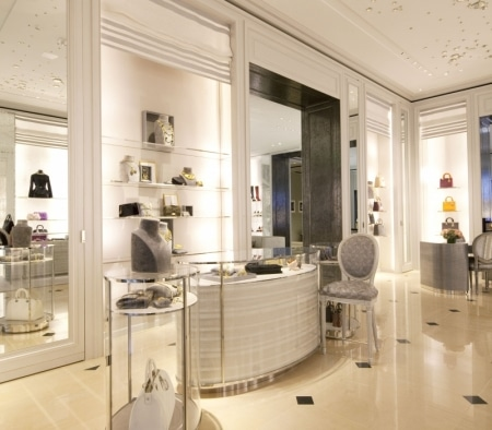 Custom Millwork Fixtures at Christian Dior on Rodeo Drive