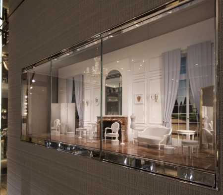 Custom Perimeter Millwork at Christian Dior on Rodeo Drive