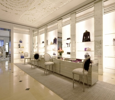 Architectural Woodwork at Christian Dior on Rodeo Drive