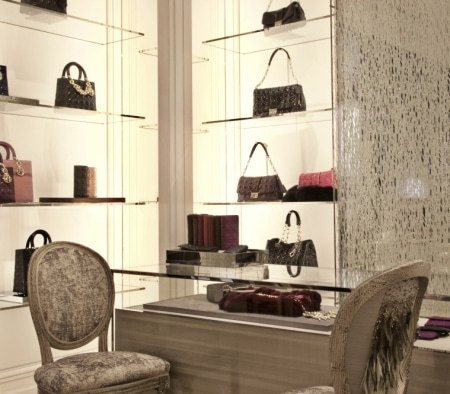Custom Millwork Fixtures at Christian Dior Flagship