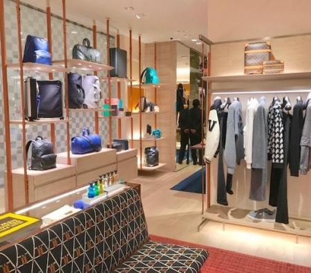 Custom Millwork Fixtures at Louis Vuitton in Bloomingdale's