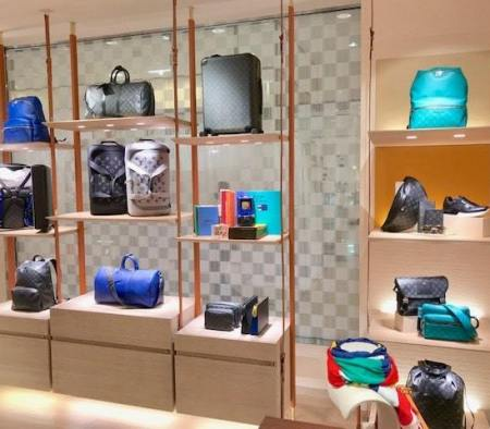 Custom Perimeter Millwork at Louis Vuitton in Bloomingdale's