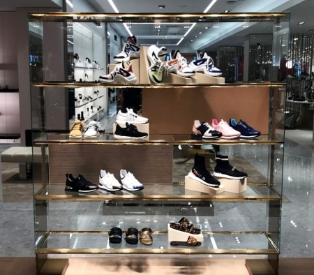 Custom Fixture at Louis Vuitton Shoe Boutique