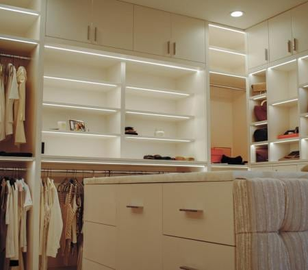 Walk-In Closest with Millwork Details