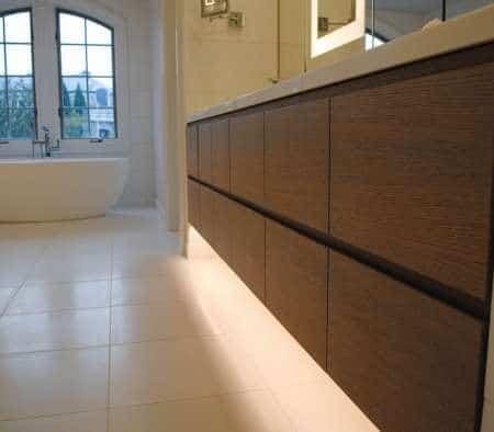 Custom Millwork in a Master Bathroom Vanity