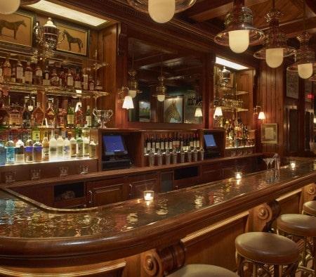 Custom Millwork at the Polo Bar