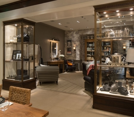 Custom Millwork Fixtures at the Ralph Lauren Flagship on Rodeo Drive