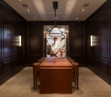 Custom Perimeter Millwork at the Ralph Lauren Flagship on Rodeo Drive