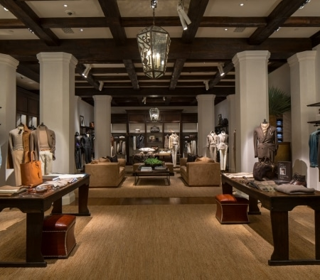 Architectural Woodwork at the Ralph Lauren Flagship on Rodeo Drive
