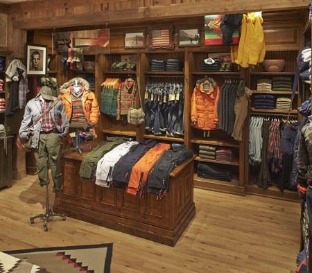 Custom Millwork Fixtures at Polo Ralph Lauren