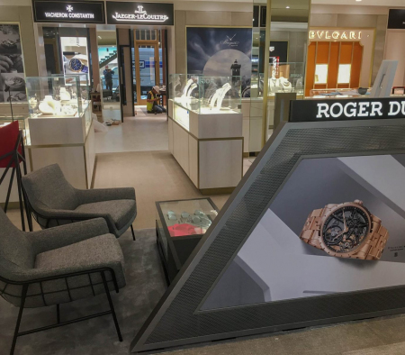 Millwork Fixtures at Roger Dubuis