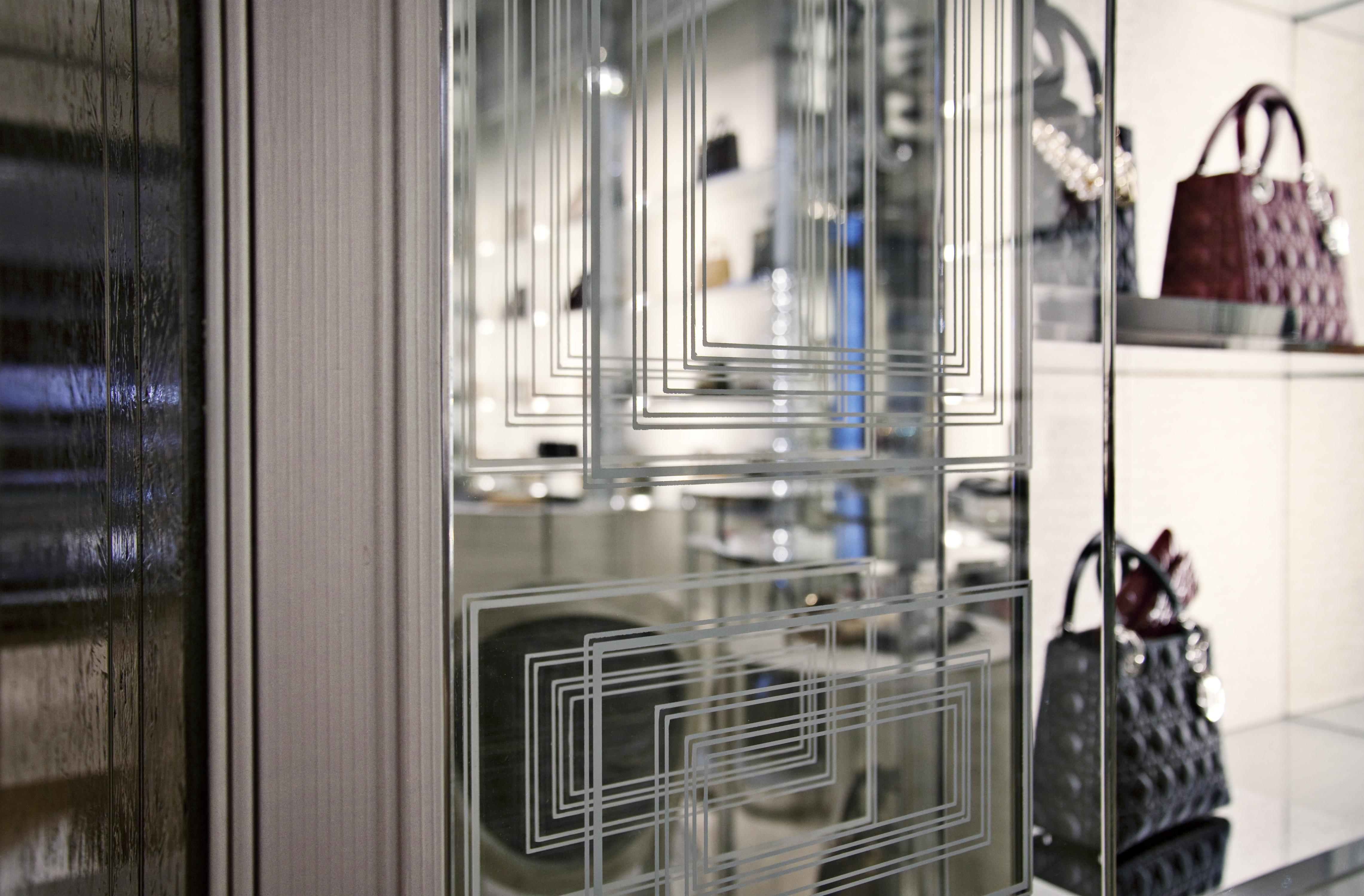 Custom Wall Design at Dior Flagship